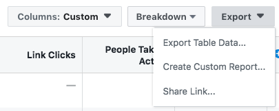 Reporting tool for Facebook ads